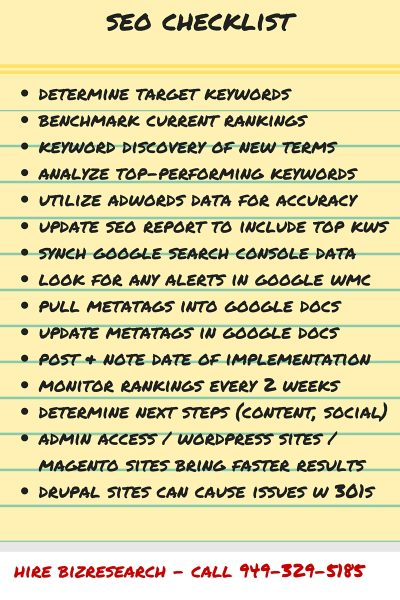 SEO Services, SEO Packages, Checklist, Optimization & Pricing