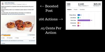 Facebook Ad Boosted Post & Results