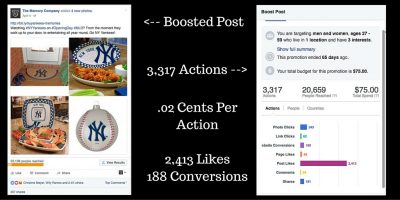 Facebook Ad Example - Boosted Post