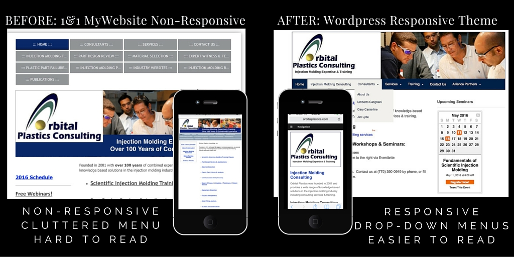 Before: Non-responsive; After: Responsive